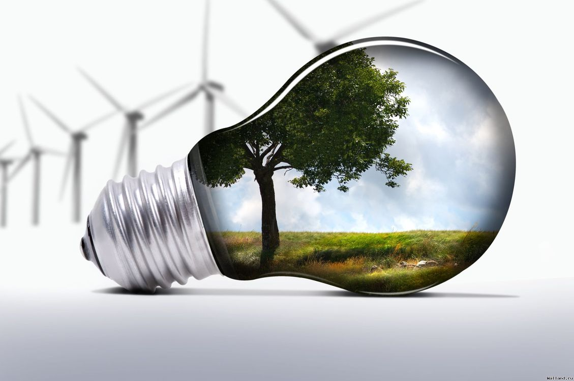 Фото бесплатно лампочка, источник, энергии, ветровая станция, 3d графика