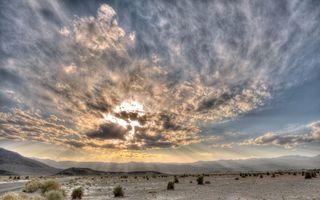 Фото бесплатно лучи, трава, долина