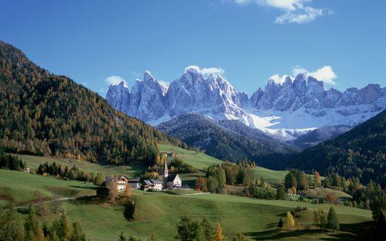Бесплатные фото деревня,горы