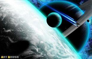 Фото бесплатно свечение, созвездия, метеориты