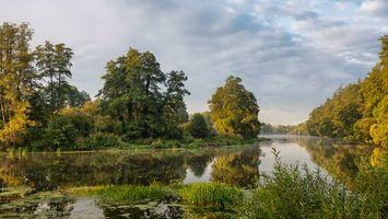 Бесплатные фото река,деревья,закат,пейзаж