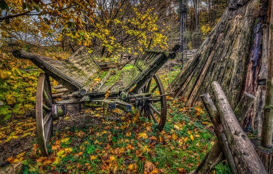 Photo free autumn, yard, manor