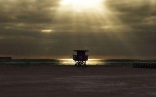 Бесплатные фото берег,вышка,море,горизонт,небо,солнце,лучи