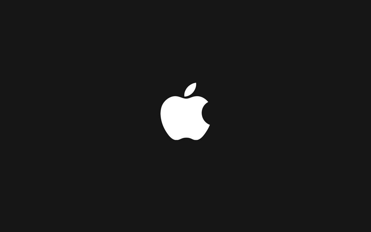 Фото бесплатно эпл, логотип, яблоко, заставка, фон черный, hi-tech