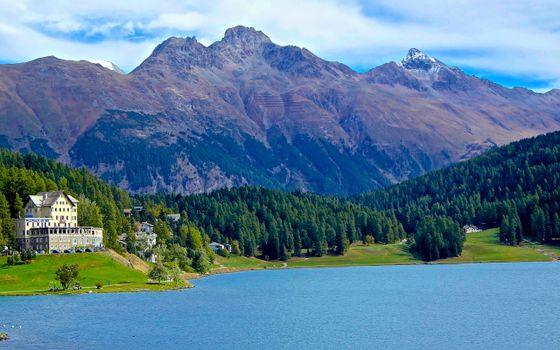Фото бесплатно озеро, берег, дома