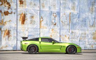 Photo free chevrolet, corvette, green