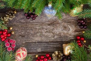 Photo free Christmas, tree branches, new year