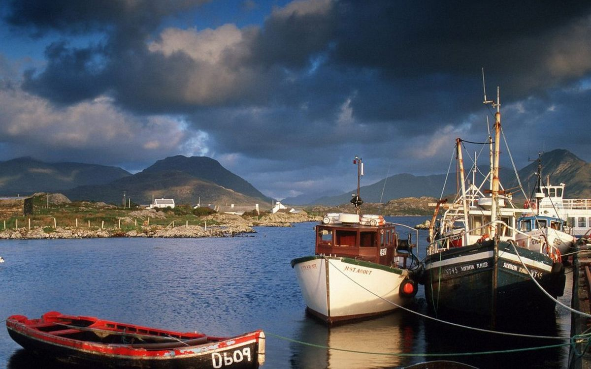 Фото бесплатно река, пристань, лодка - на рабочий стол