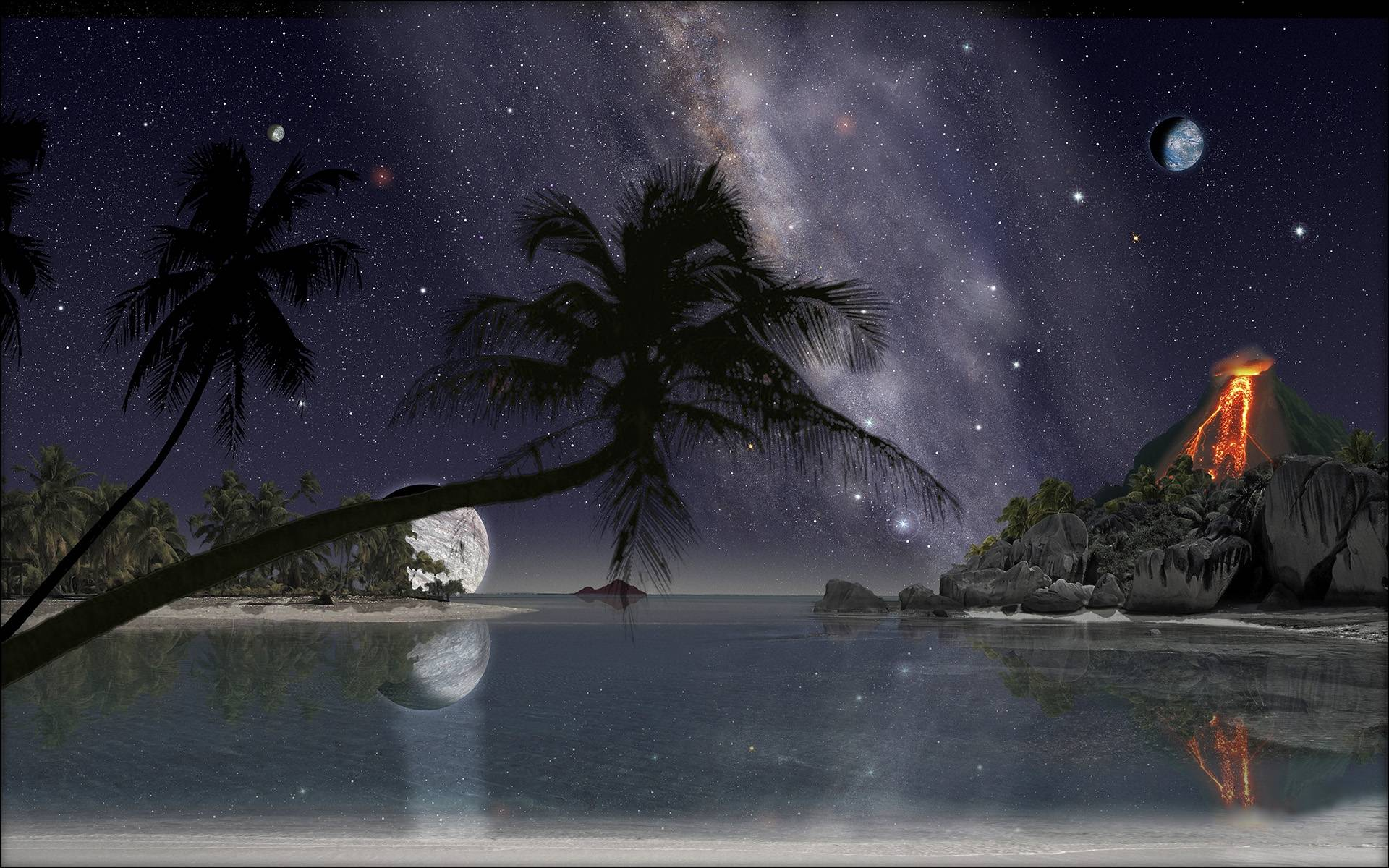 ночь, море, лагуна