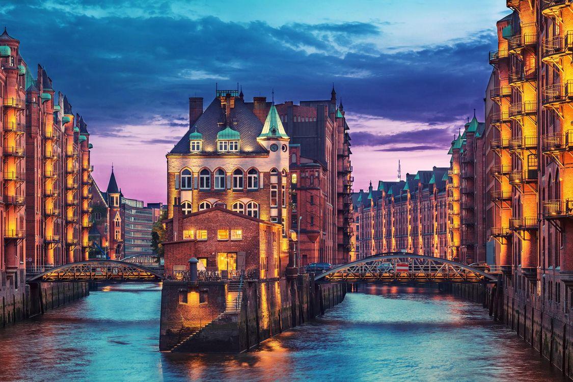 Фото бесплатно Гамбург, Германия дома, здания, город - скачать на рабочий стол