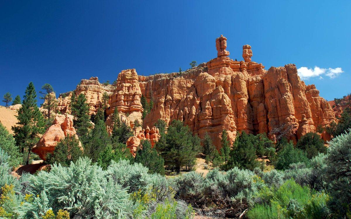 Фото бесплатно горы, скалы, песчаники - на рабочий стол