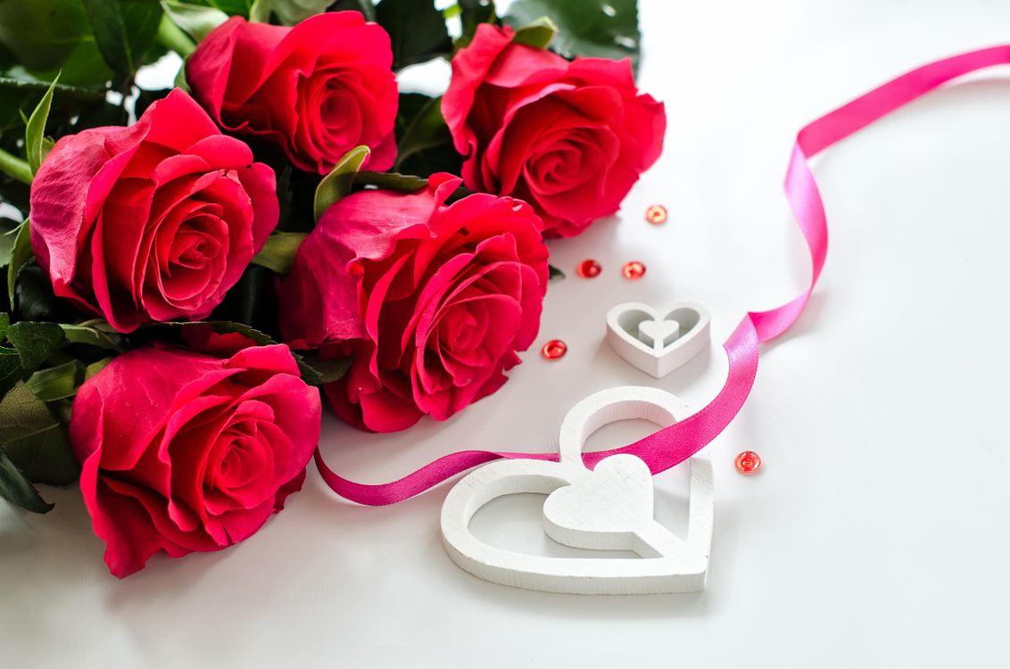Фото бесплатно день святого валентина, день влюбленных, с днём святого валентина, с днём всех влюблённых, романтика, розы, роза, Валентинка, Валентинки, праздники