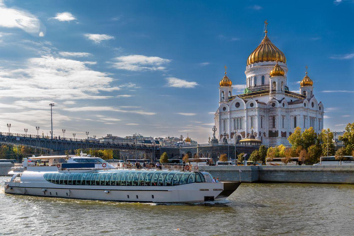 Фото бесплатно Храм Христа Спасителя, Москва, Россия, город - скачать на рабочий стол