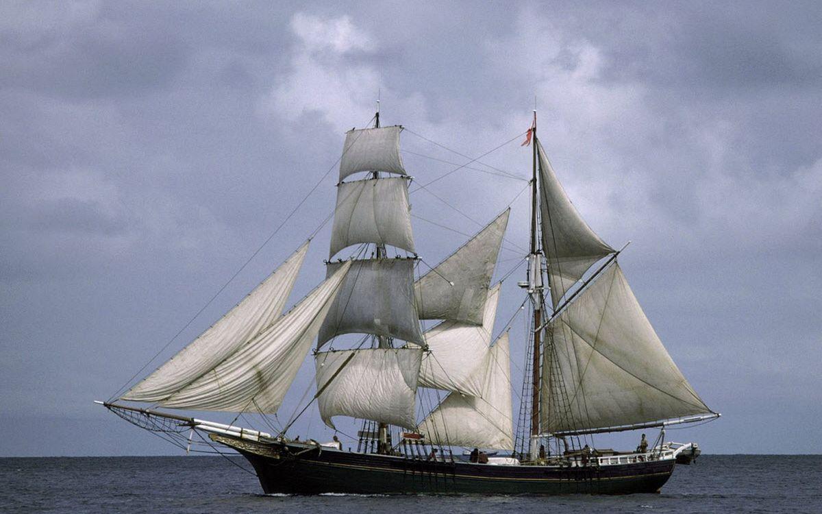 Фото бесплатно корабль, паруса, небо - на рабочий стол