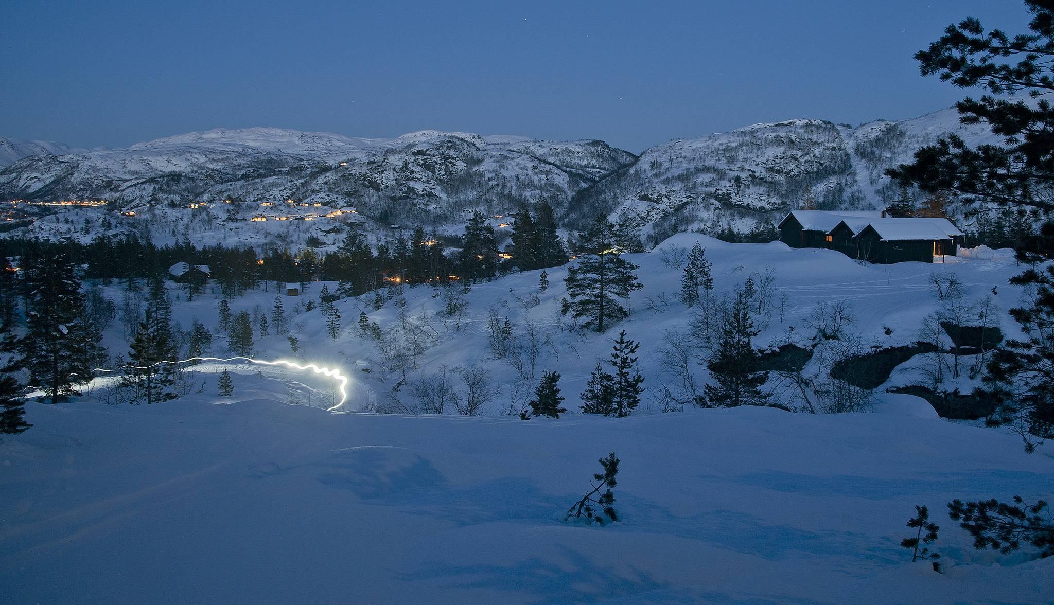 обои закат, зима, горы, деревья картинки фото