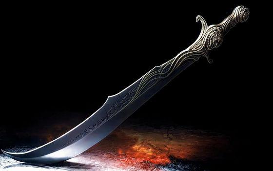 Фото бесплатно меч, металл, гравировка