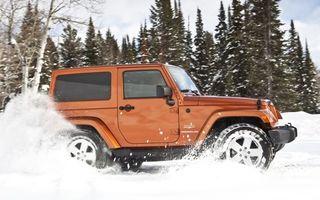 Бесплатные фото джип,вранглер,зима,снег,лес,занос