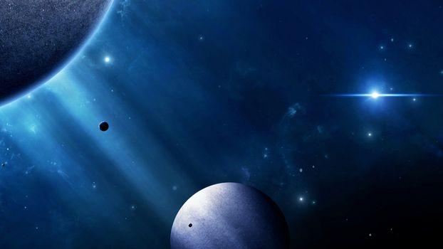Заставки луна, свет, планеты
