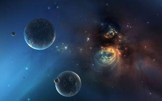 Бесплатные фото планеты,звезлы,созвездия,свечение,невесомость,вакуум