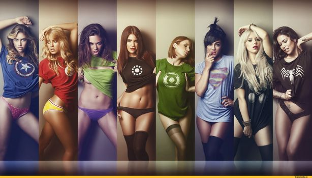 Фото бесплатно девушки, супергерои, футболка