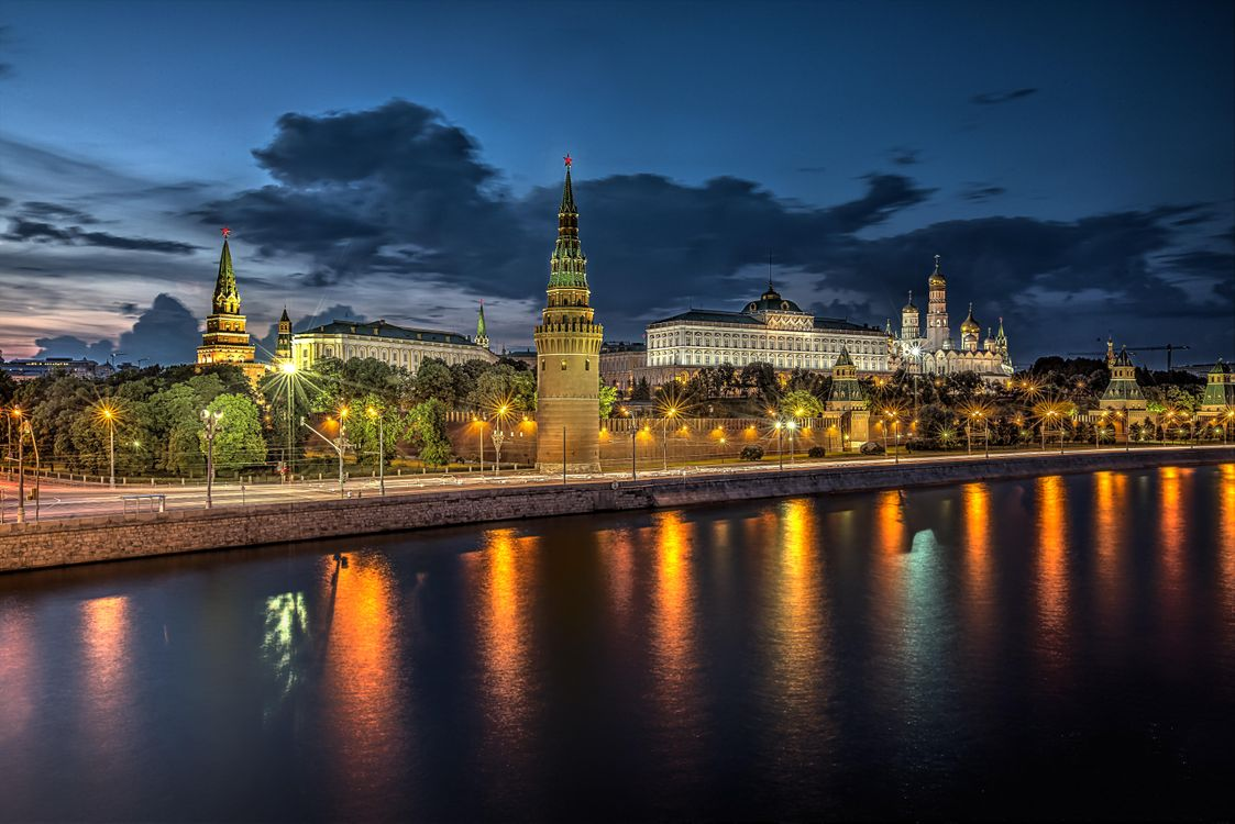 Photo moscow, moscow river wallpaper for desk