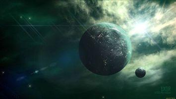 Бесплатные фото планета, Луна, спутник, звезда, жизнь
