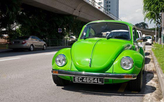 Фото бесплатно машина, гольф, зеленый
