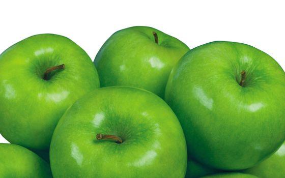 Фото бесплатно фрукты, яблоки, зеленые
