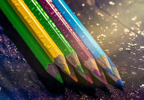 Photo free pencils, colored, coloring