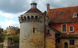 Бесплатные фото дам,башня,кирпич,кладка,окна,крыша