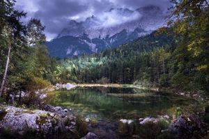 Бесплатные фото Гора Цугшпитце, Бавария, Германия, Баварские Альпы