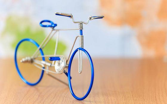 Фото бесплатно проволока, искусство, велосипед
