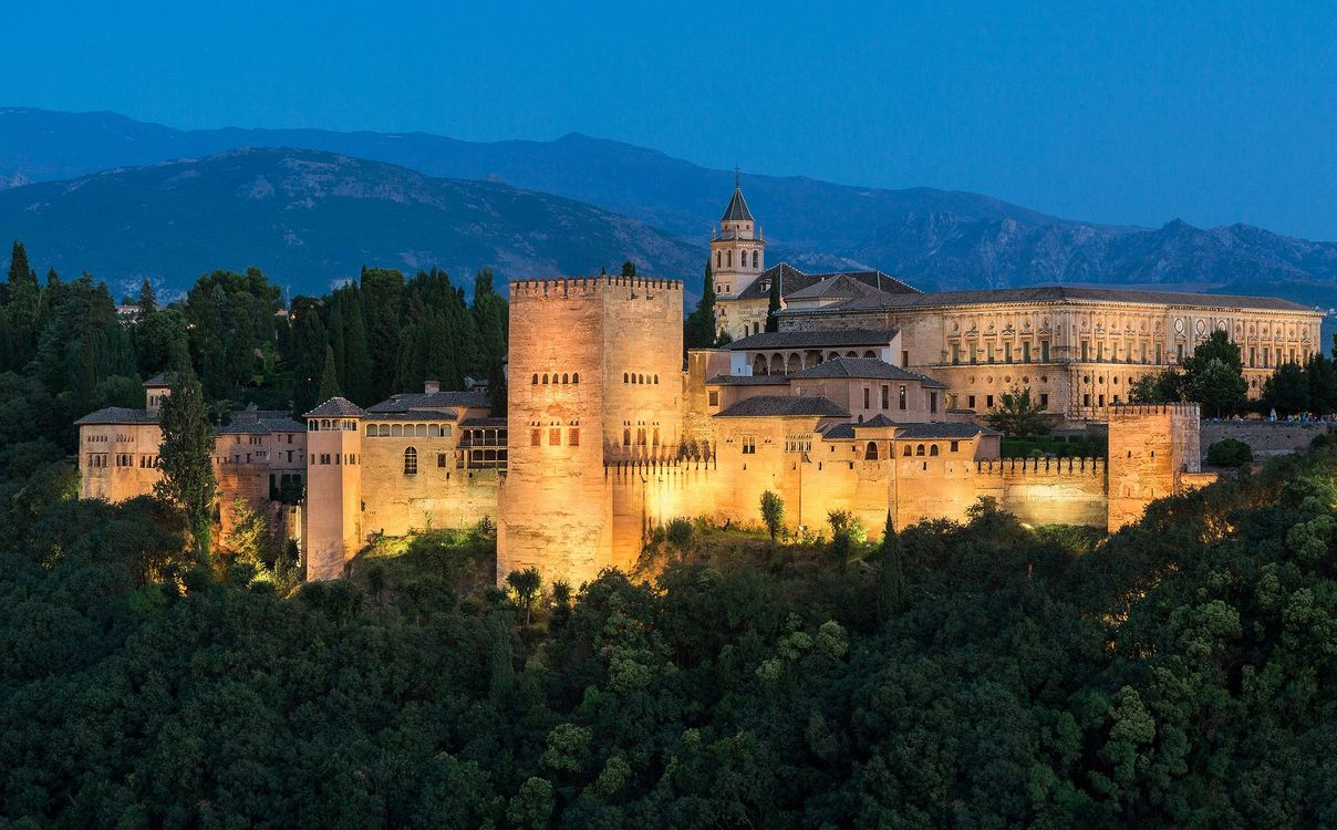 Фото бесплатно Альгамбра является дворец и крепость, Гранада, Андалусия, Испания, город