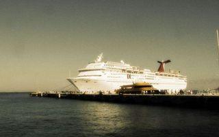 Фото бесплатно белый, море, круизный лайнер
