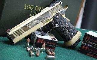 Photo free pistol, needles, hilt