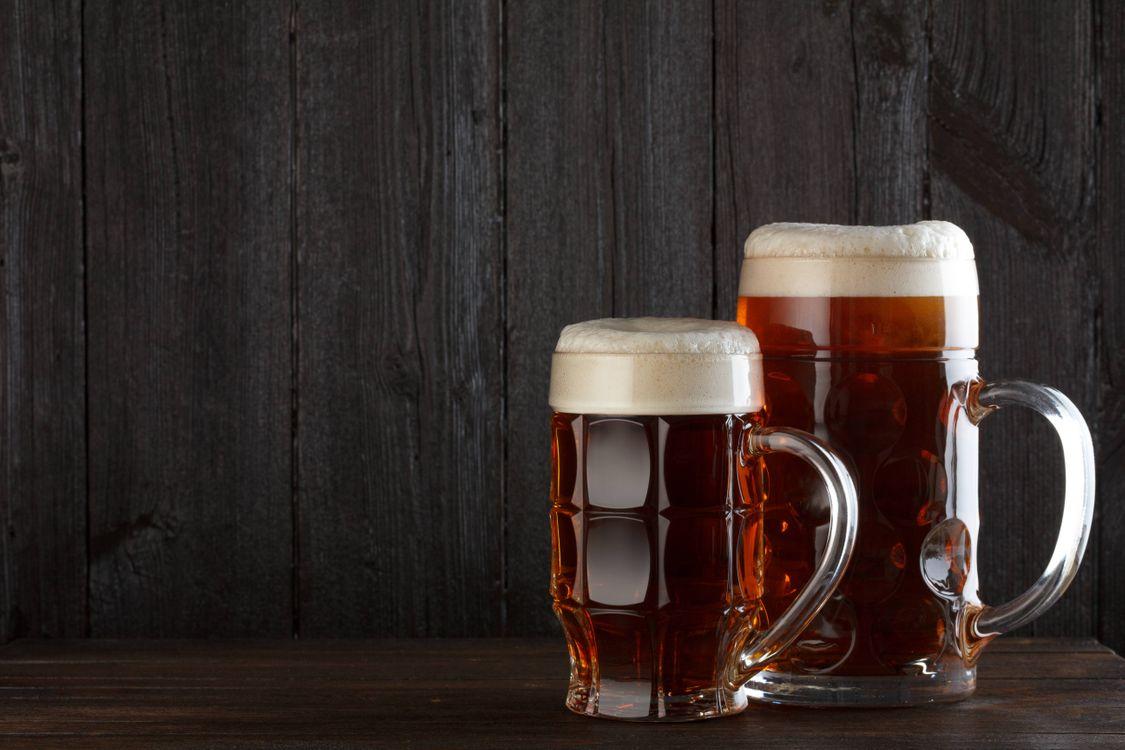 Фото бесплатно пиво, кружки, пена, напиток - на рабочий стол