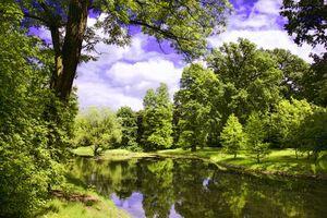 Заставки река, деревья, природа