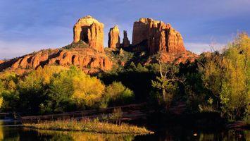 Бесплатные фото Гранд-Каньон,национальный парк,США,Америка,Аризона,скалы,деревья