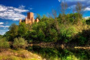 Бесплатные фото Замок Алмоурол, Португалия, пейзаж