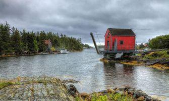 Бесплатные фото живописное место вдоль побережья Луненберг, Новая Шотландия пейзаж