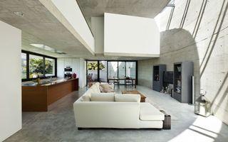 Фото бесплатно большая гостиная, белый тон, дизайн