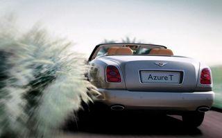 Бесплатные фото бентли,азур т,кабриолет,дорога,скорость,трава
