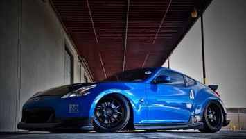 Photo free Nissan, blue, tuning