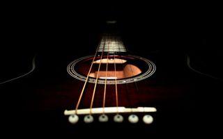 Заставки гитара, акустическая, черная