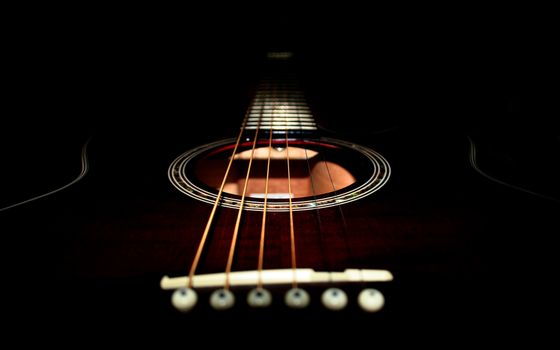 Photo free guitar, acoustic, black