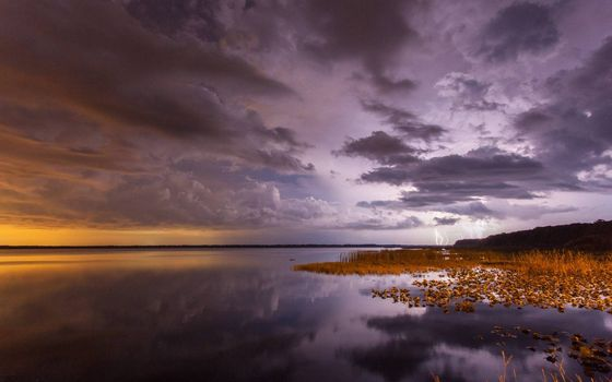 Фото бесплатно берег моря, тучи, небо