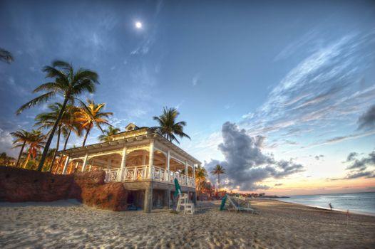 Фото бесплатно вилла, пляж, море