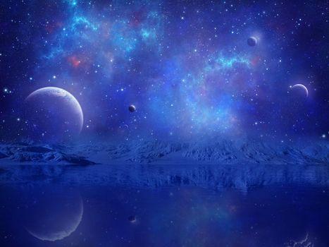 Фото бесплатно невесомость, астероиды, метеориты