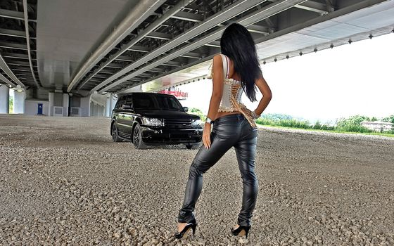 Фото бесплатно мост, рендж ровер, черный