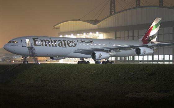 Фото бесплатно ночь, самолет, пассажирский
